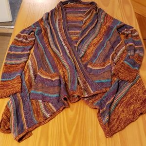 Billabong Multi-color Hi-Lo Sweater Cardigan
